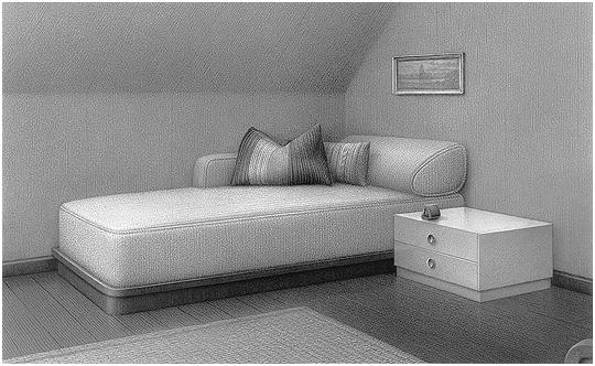 Chaise longue, Diptychon, Teil 1, 2006 von Astrid Brandt
